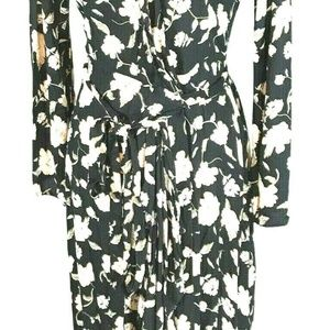Elan Dresses - Elan Wrap Maxi Dress Sz S Black Floral NWOT